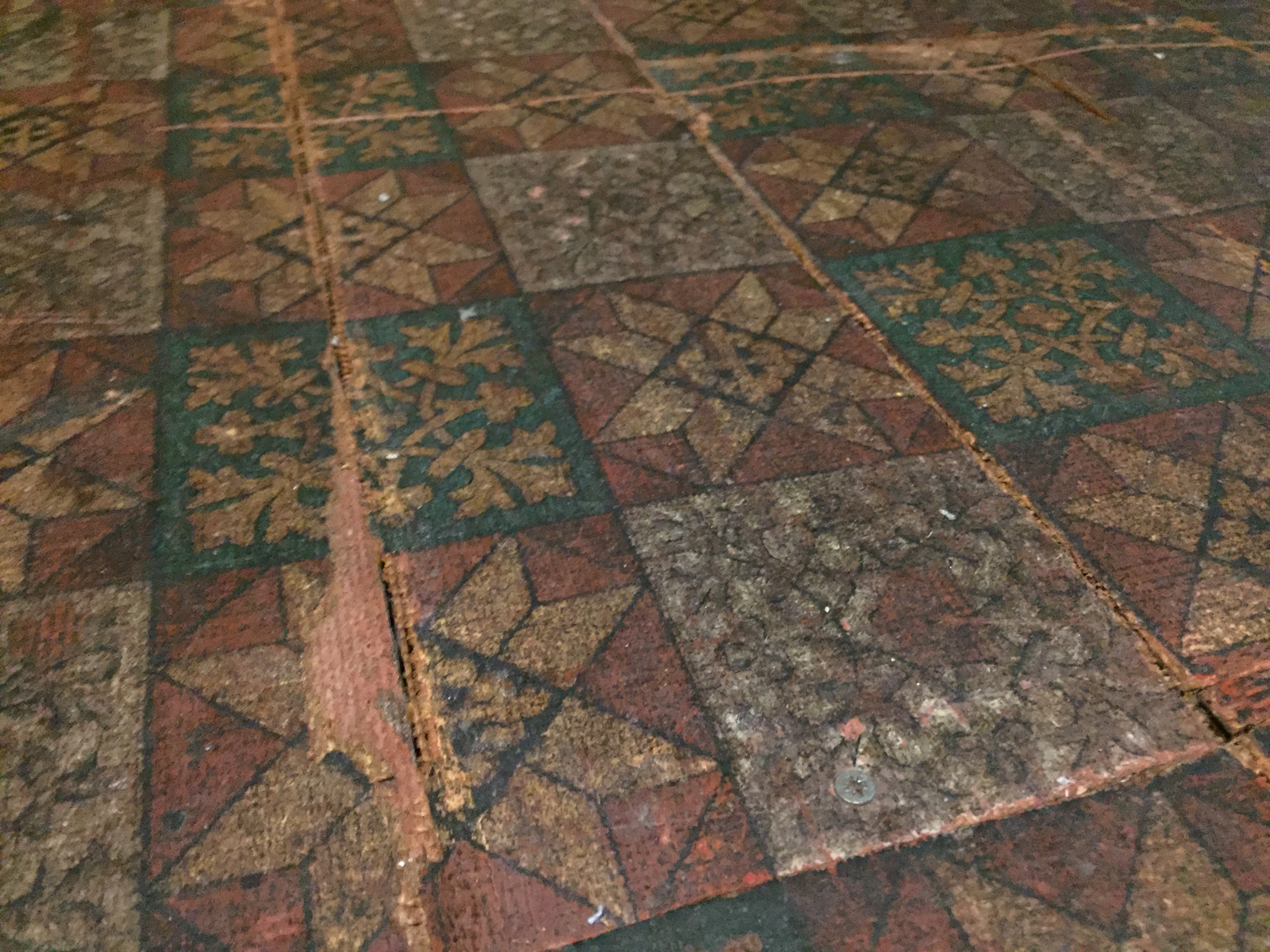 Original flooring in one of the rooms.