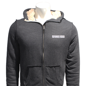 Image for Chunky Zip Hoodie- Charcoal Grey Marl - XS