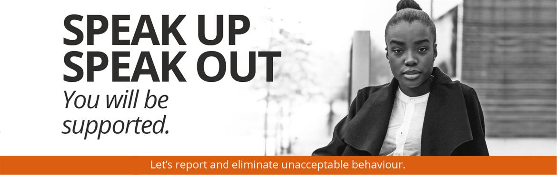 Speak Up Speak Out Banner