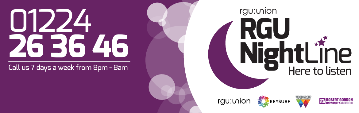 RGU:Nightline is a student-led Helpline offering a non-judgemental, anonymous listening Service, supporting fellow RGU students outside academic hours